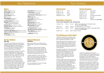 Programme Pages