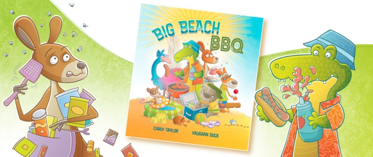 Big Beach BBQ illustrated by Vaughan Duck
