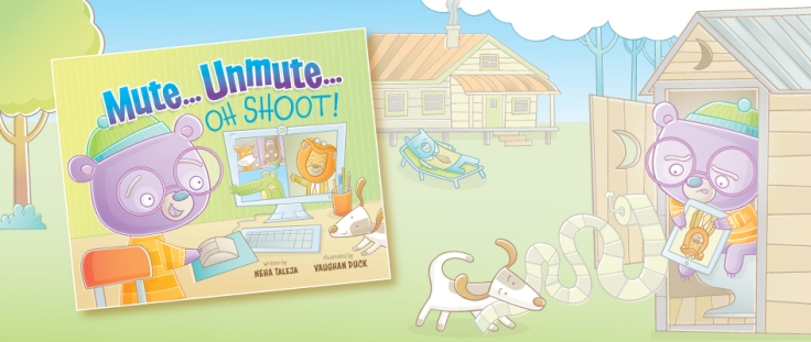 Mute Unmute Oh Shoot illustrated by Vaughan Duck